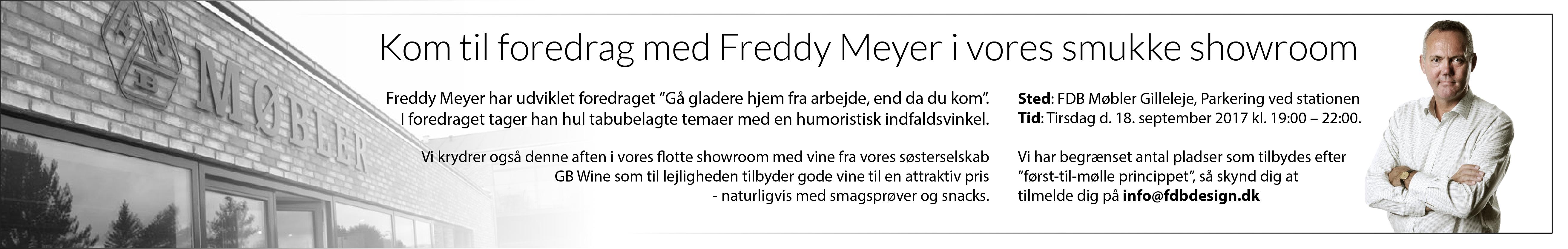 Foredrag med Freddy Meyer