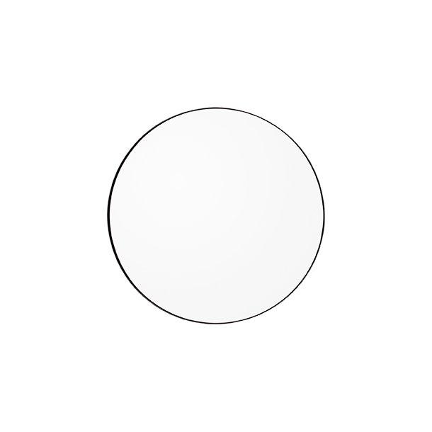 AYTM - Circum spejl Ø90 (Sort kant/klart glas)