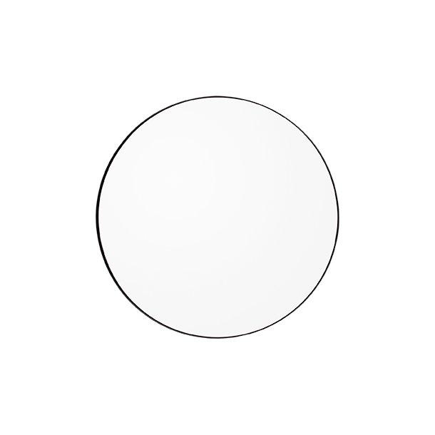 AYTM - Circum spejl Ø110 (Sort kant/klart glas)