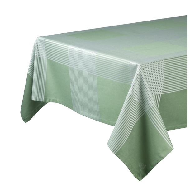Stofdug Olga<br>(140x240 cm - grøn/hvid)