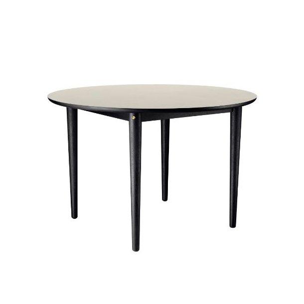 C62 Bjørk - rundt spisebord (sort eg/grå)