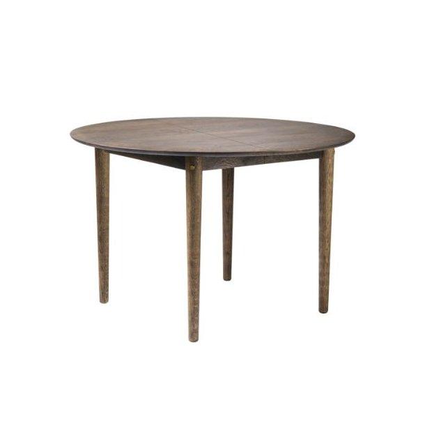 C62E Bjørk - spisebord med udtræk (røgfarvet olieret eg)