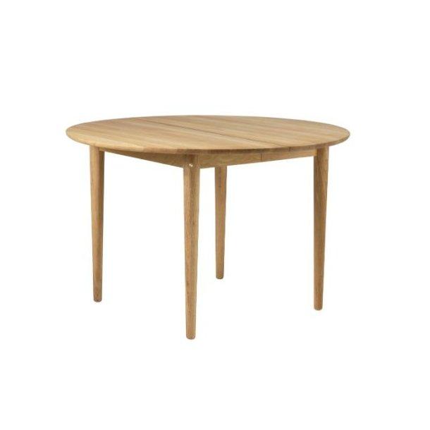C62E Bjørk - spisebord med udtræk (eg)