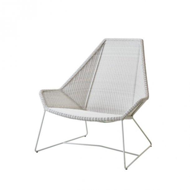 Cane-line - Breeze Highback stol, hvid fiber