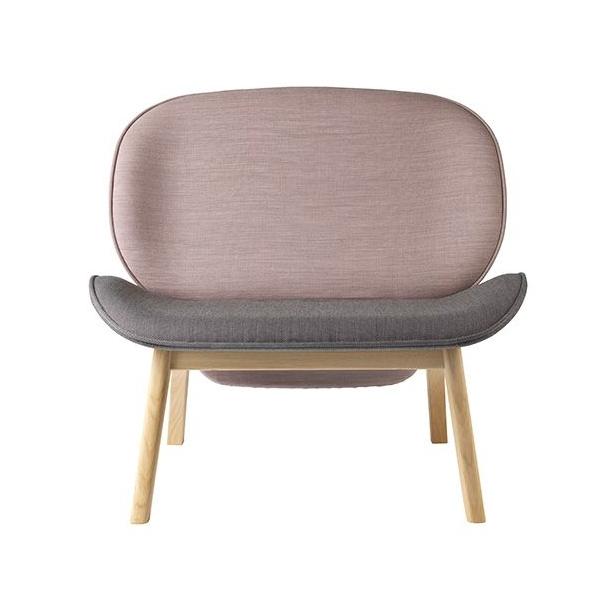 Suru loungestol<br>(grå/rosa)