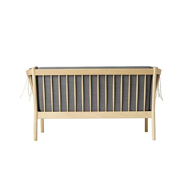 J148 2-pers sofa <br>(Eg/Antracitgrå)