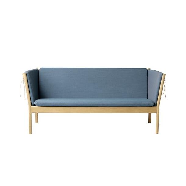 J149 3-pers sofa <br>(Eg/Støvet blå)