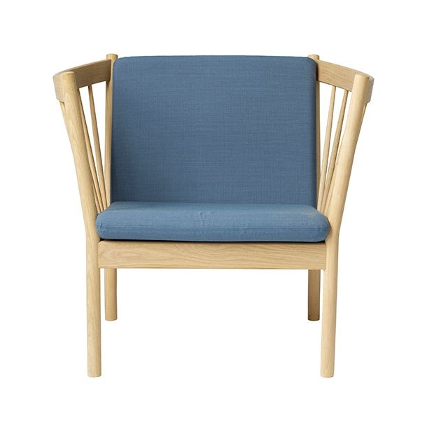 J146 lænestol <br>(Eg/Støvet blå)