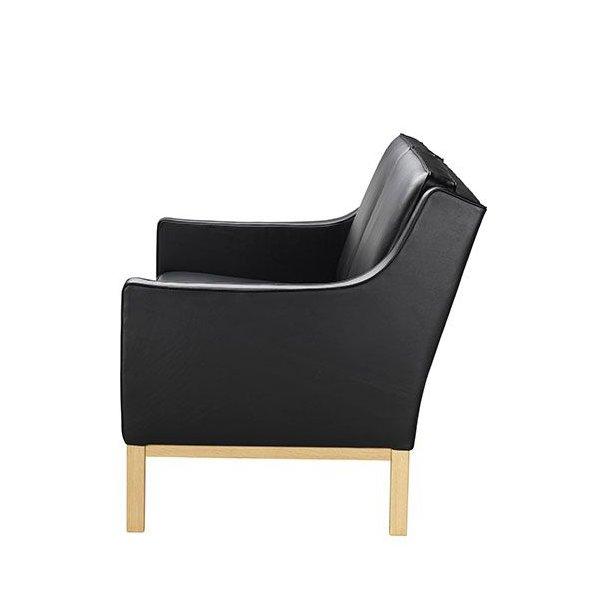 L601-2 sofa <br>(Sort læder)