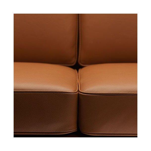 L601-2 sofa <br>(Cognac læder)