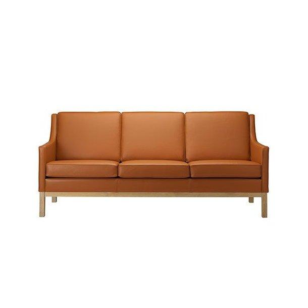 L601-3 sofa <br>(Cognac læder)