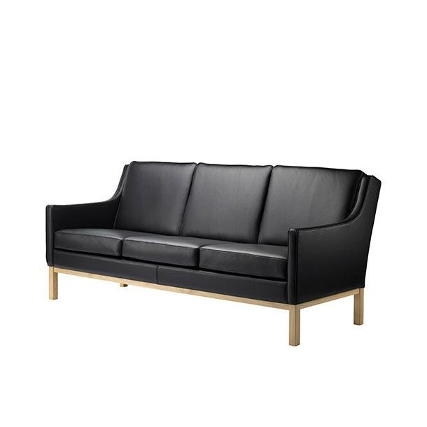 L601-3 sofa <br>(Sort læder)