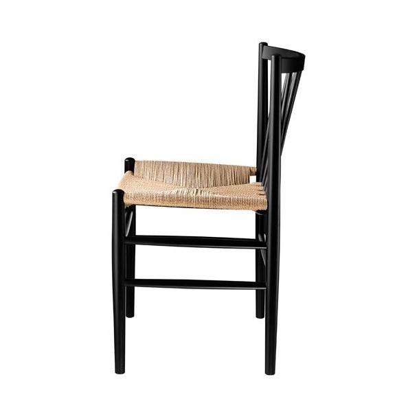 J80 spisebordsstol <br>(sort/natur)
