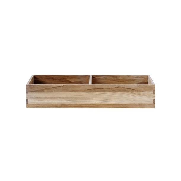 Sokkel til bogkasse, liggende, dybde 17 cm (lakeret eg)