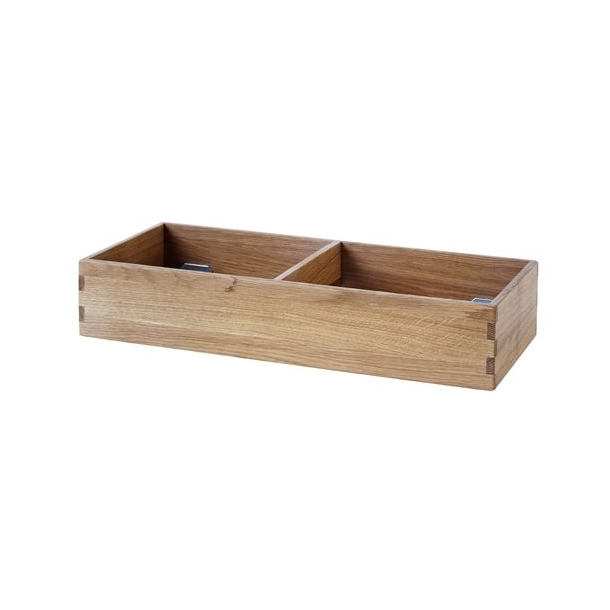 Sokkel til bogkasse, liggende, dybde 24 cm (lakeret eg)