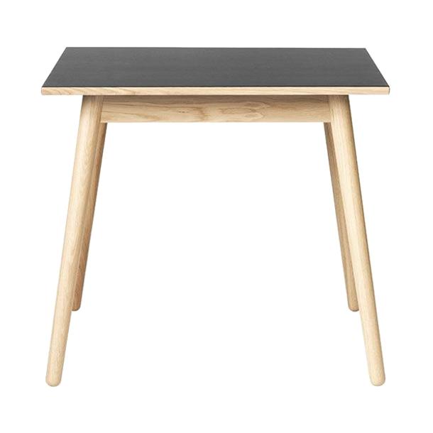 C35A spisebord til 4-8 pers <br> (eg/sort linoleum)