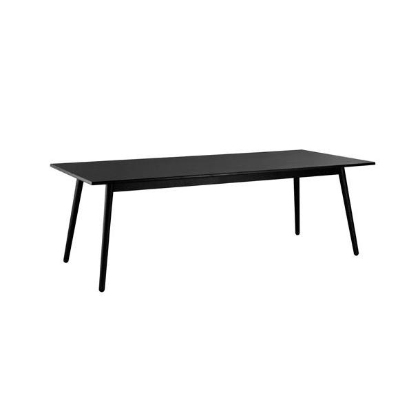 C35C spisebord til 8-12 pers <br> (Eg/sort)