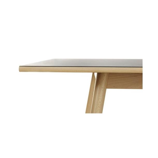 C35C spisebord til 8-12 pers <br> (Bøg/sort)