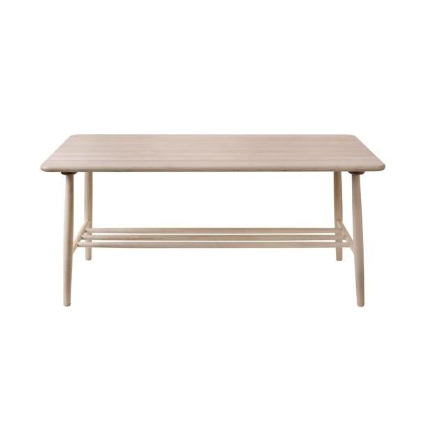 D20 sofabord <br>(hvidlakeret birk)