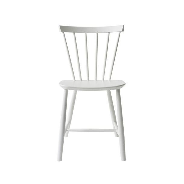 J46 spisebordsstol <br>(hvid)
