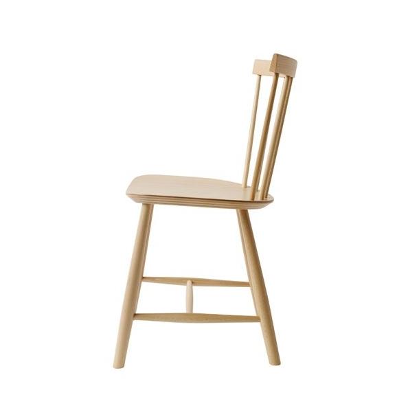 J46 spisebordsstol <br>(bøg, natur)