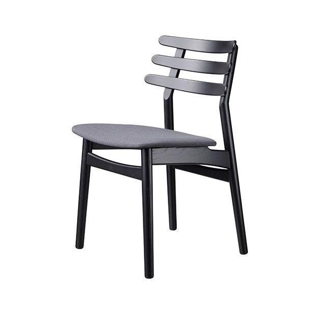 J48 spisebordsstol <br>(eg/sort/grå)
