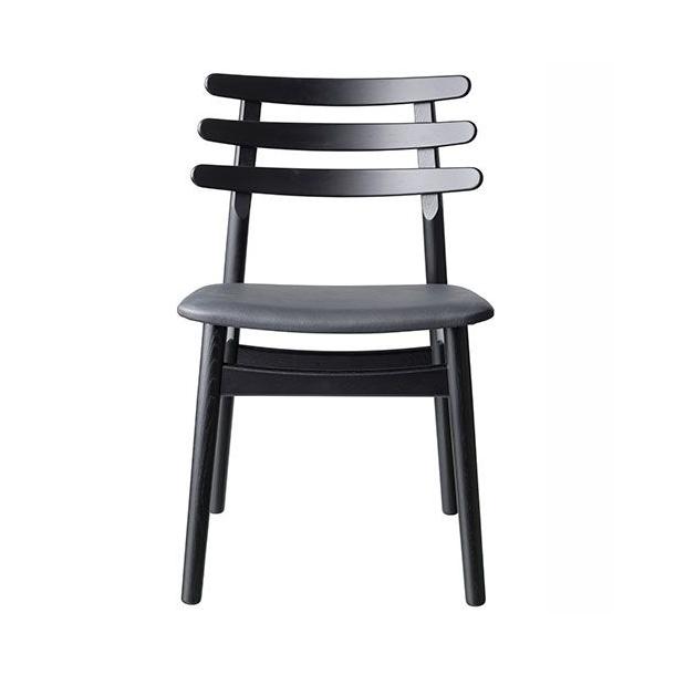 J48 spisebordsstol <br>(eg/sort/sort læder)