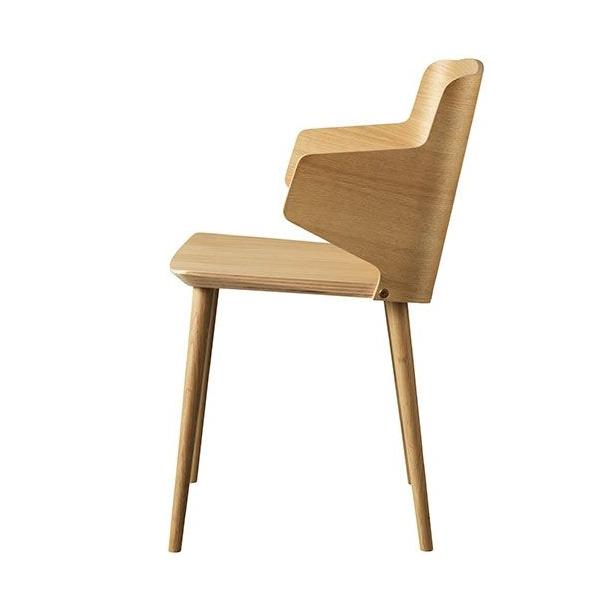Yak spisebordsstol med armlæn (eg, natur)