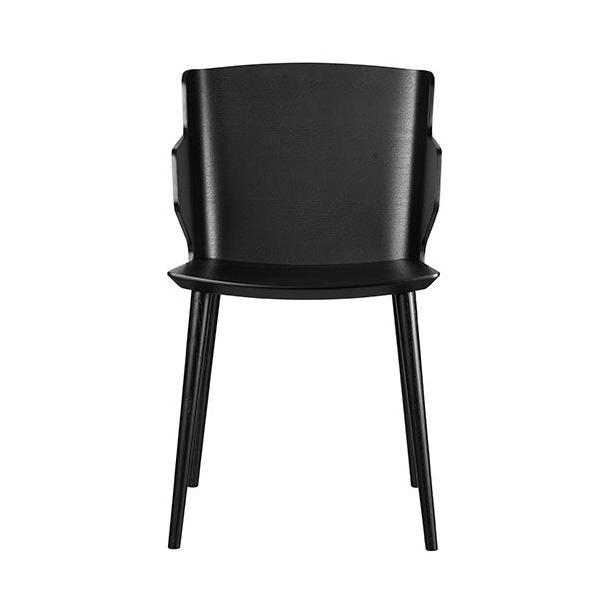 Yak - spisebordsstol med armlæn (sort)