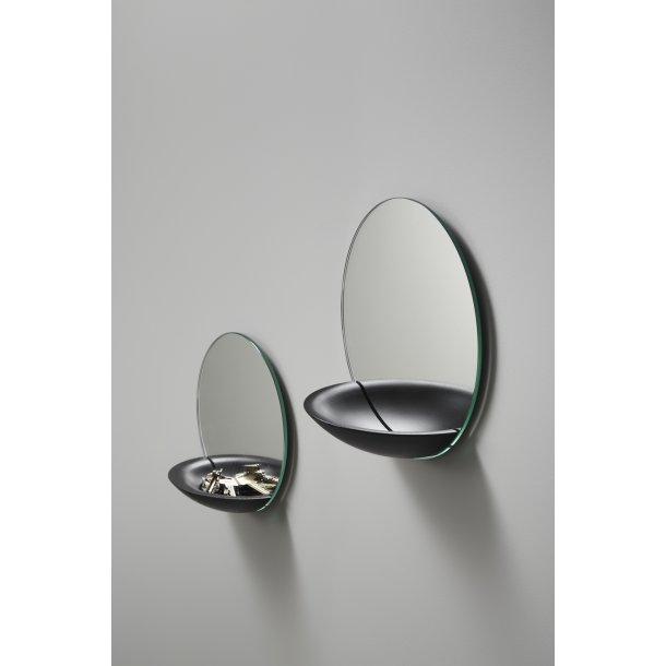 Woud - Pocket Mirror stor, sortmalet eg