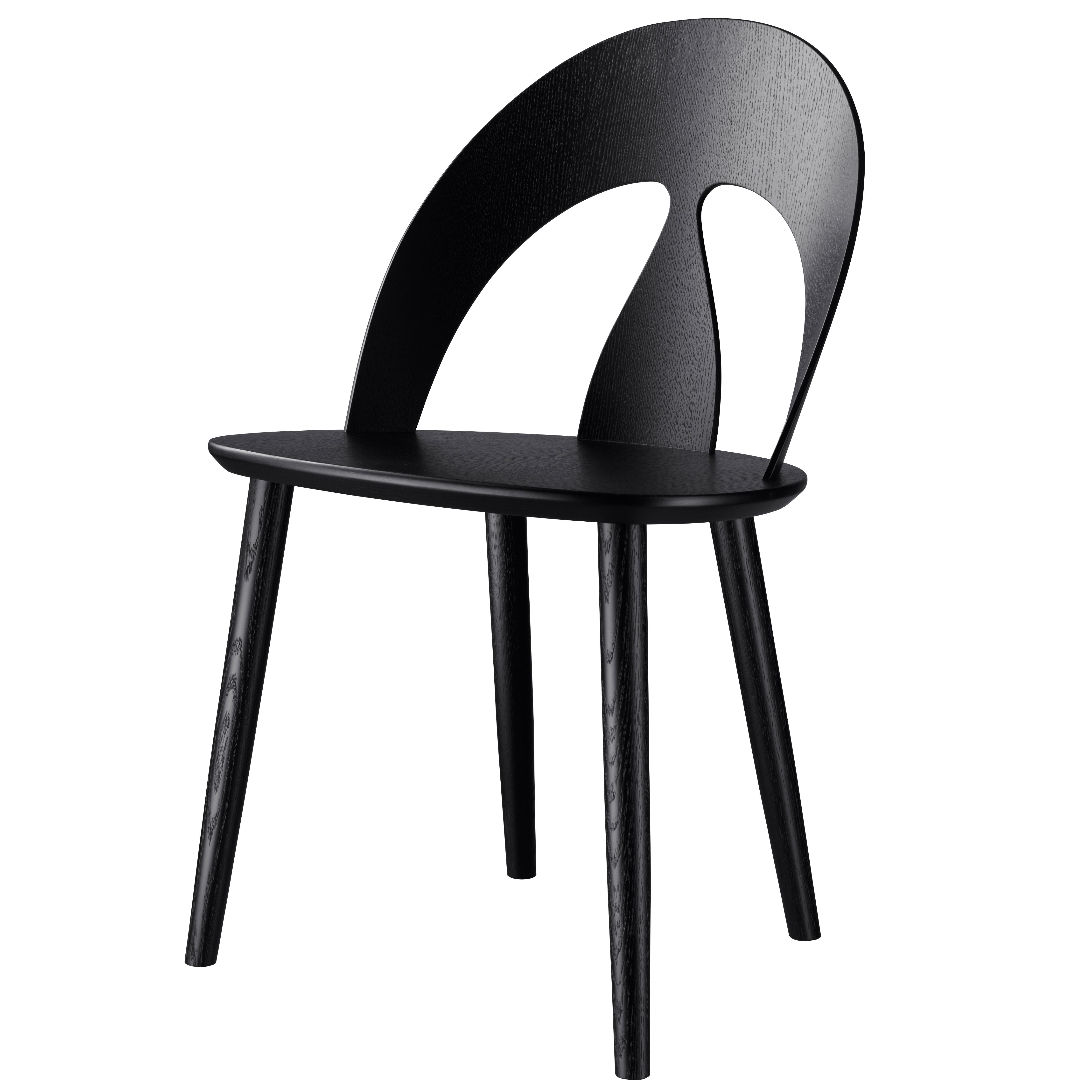 Komfortabel J45 spisebordsstol i sort eg af Børge Morgensen