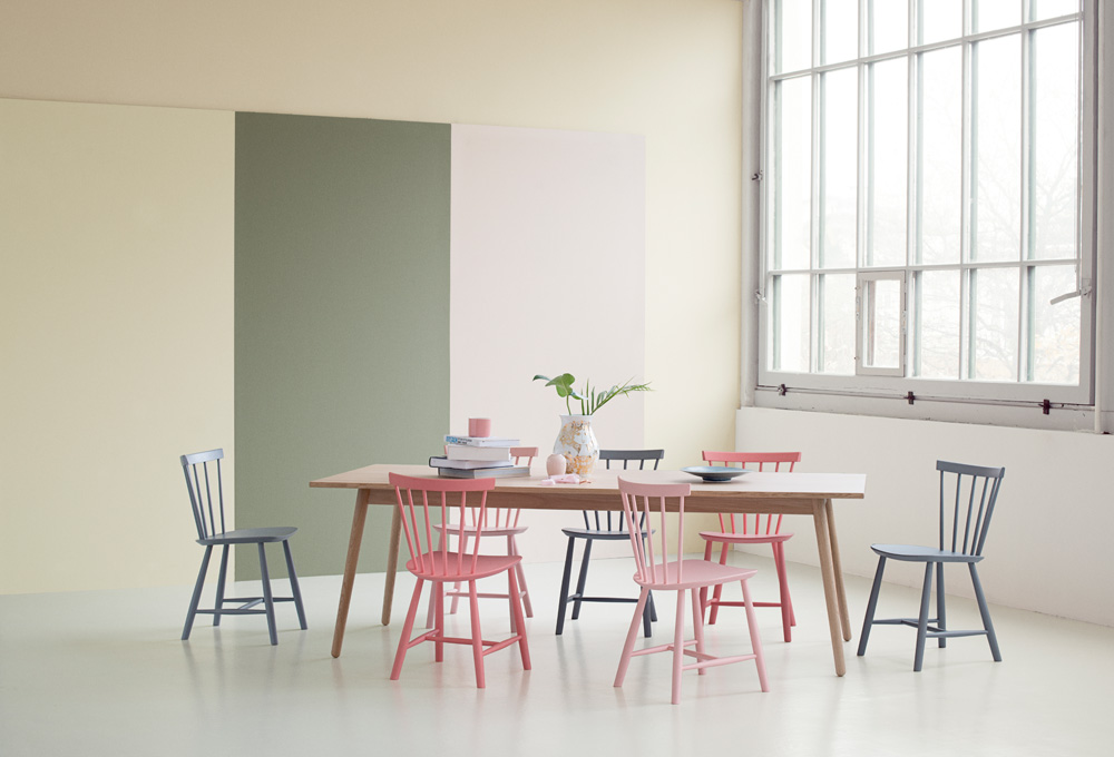 Naturfarvet J46 spisebordsstol fra FDB Møbler FDBdesign.dk