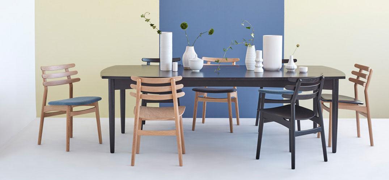 J48 spisebordsstol (egsortgrå) fra FDB Møbler Poul M