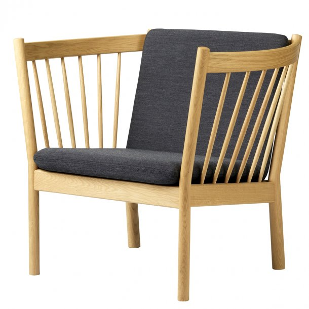 J146 lænestol <br>(Eg/Mørkegrå)