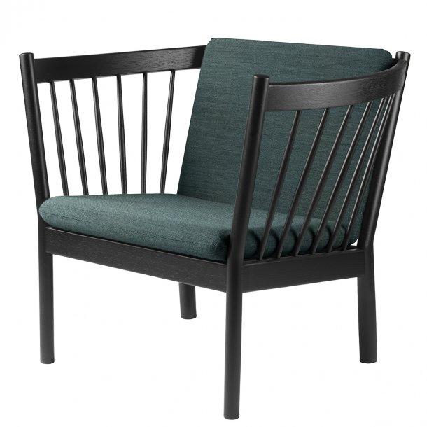 J146 lænestol <br>(Sort eg/Mørkegrøn)