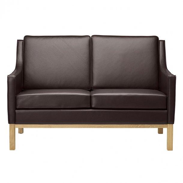 L601-2 sofa <br>(Mørkebrunt læder)