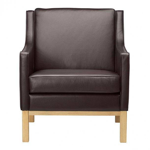L603 lænestol <br>(Mørkebrunt læder)