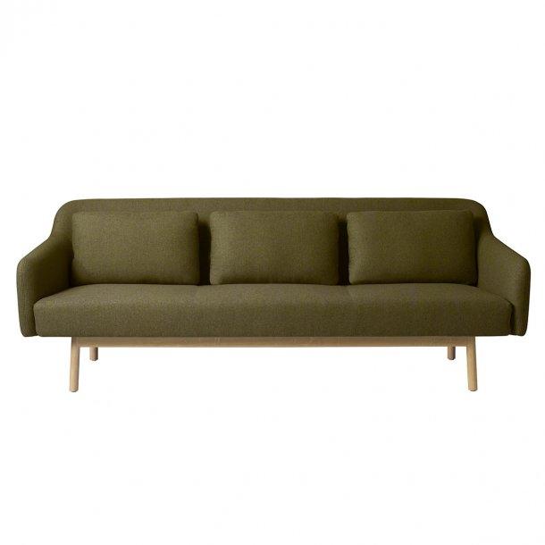 Gesja L34 sofa<br>(grønt uldstof)