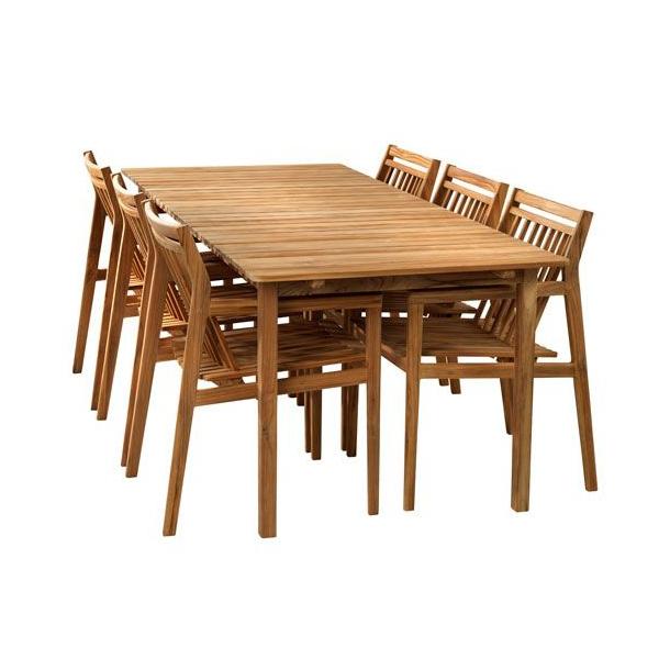 Sammen stort møbelsæt <br>(teak)