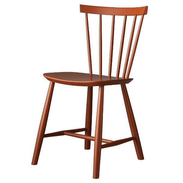 J46 spisebordsstol <br>(brændt rød)